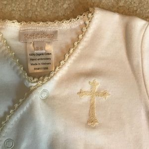 Beautiful cream gown with cross